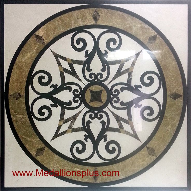 Kristine ii 48 square waterjet medallion for Wood floor medallions inlay designs