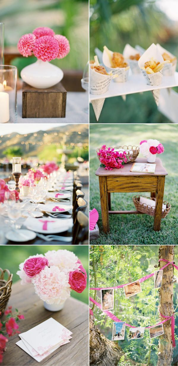 Usually I kind of hate pink. But this is pink done right. Beautiful wedding!
