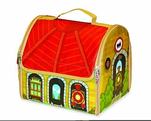 ZipBin Train Depot Play Set by Neat-Oh. Save 83 Off!. $10.08. Bin: 10.5 x 9.5 x 8.8 inches, Mat: 32.5 x 28.5 inches. What's the best soft sided storage for your fantasy theme world? This soft-sided, portable roundhouse opens to become a small village surrounded by train tracks with the same gauge as all popular wooden trains. The town, which borders farmland, includes several buildings, roadways and a construction zone. The ZipBin Train Depot Playset is perfect for car and train en...