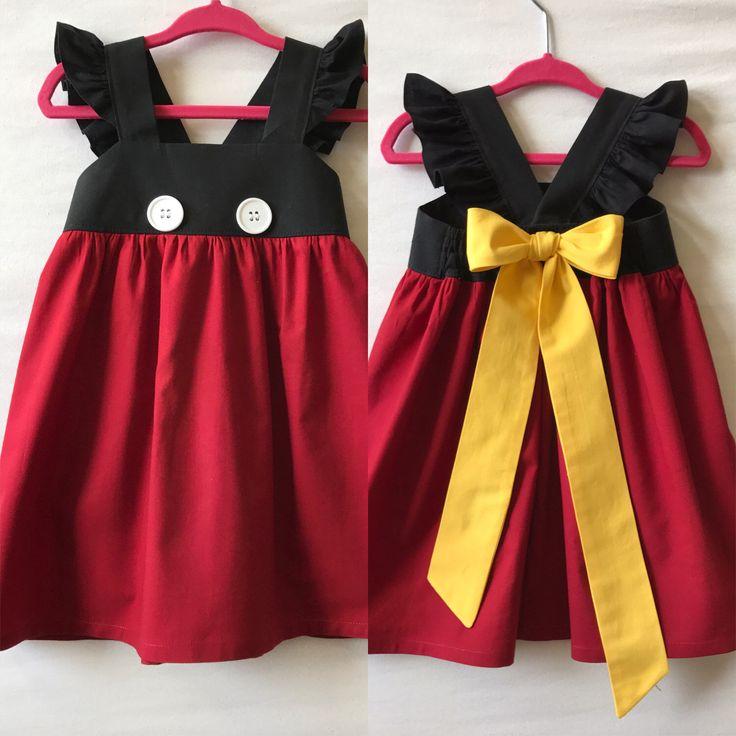 Mickey Mouse Dress, Disney Dress, Baby Girls Dress, Girls Dress, Little Girls Dress, Childs Dress, Party Dress, Flutter Sleeve Dress by JujaBeanKidz on Etsy https://www.etsy.com/listing/494265631/mickey-mouse-dress-disney-dress-baby