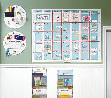 Organized family bulletin board