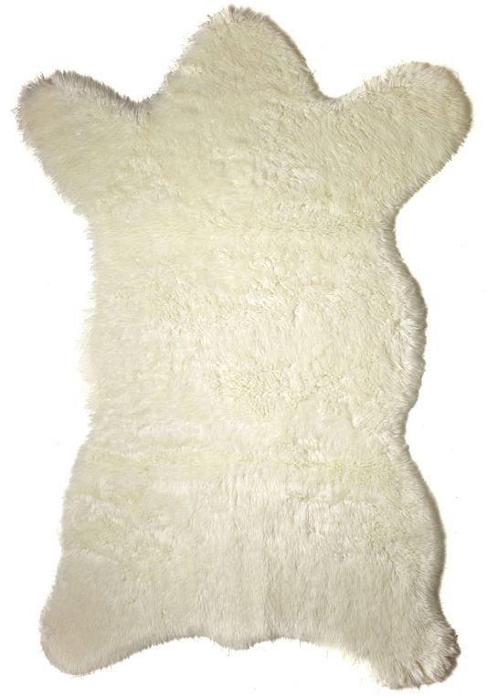 "Faux Polar Bear Skin Rug 58"" x 93"""