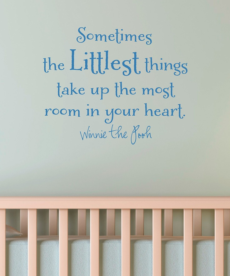 Belvedere Designs Sapphire 'The Littlest Things' Wall Decal | Daily deals for moms, babies and kids