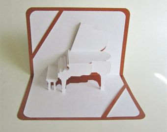 GRAND PIANO 3D Pop Up Greeting Card For Music Lovers di BoldFolds