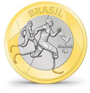 Moedas - Rio 2016 - Atletismo Paralímpico