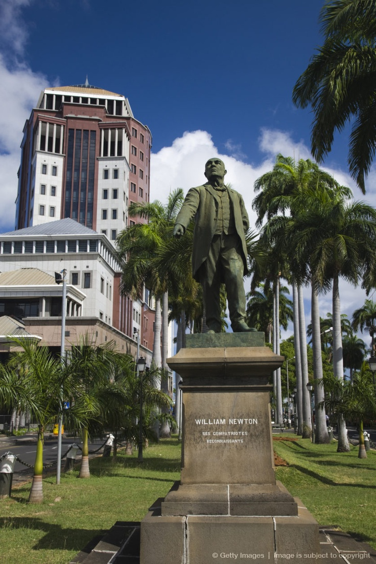 Mauritius, Port Louis, Place S. Bissoondoyal, Statue of William Newton