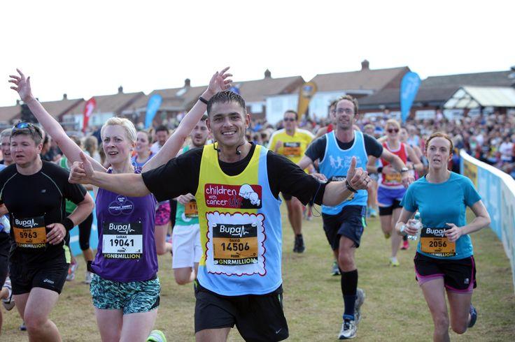 Great North Run finishing line