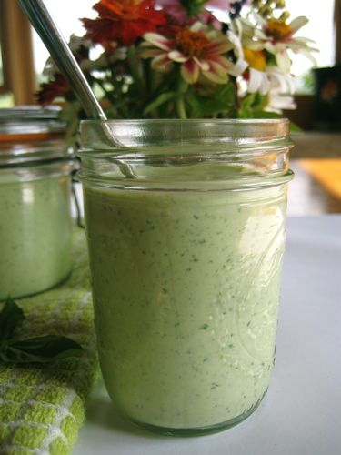 Basil Green Goddess Dressing  from Barefoot Contessa at Home: Sour Cream, Barefoot Contessa, Misc Greengoddessdress 5, Salad Dresses, Dresses Recipes, Greek Yogurt, Green Goddess Dressing, Basil Green, Green Goddesses Dresses