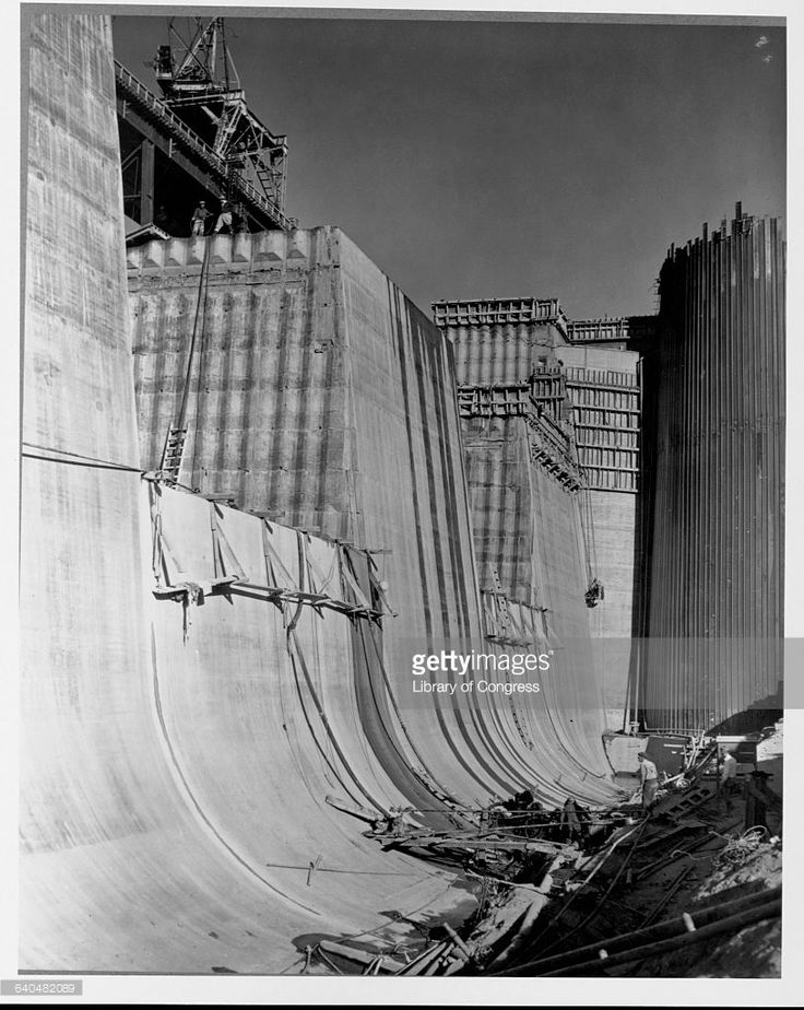 Grand Coulee Dam Under Construction