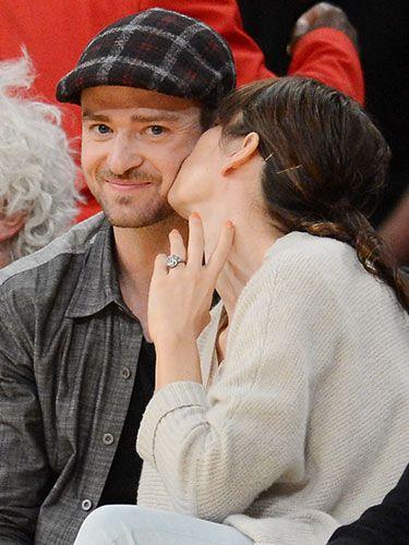 Jessica Biel and Justin Timberlake #love #PDA #cute