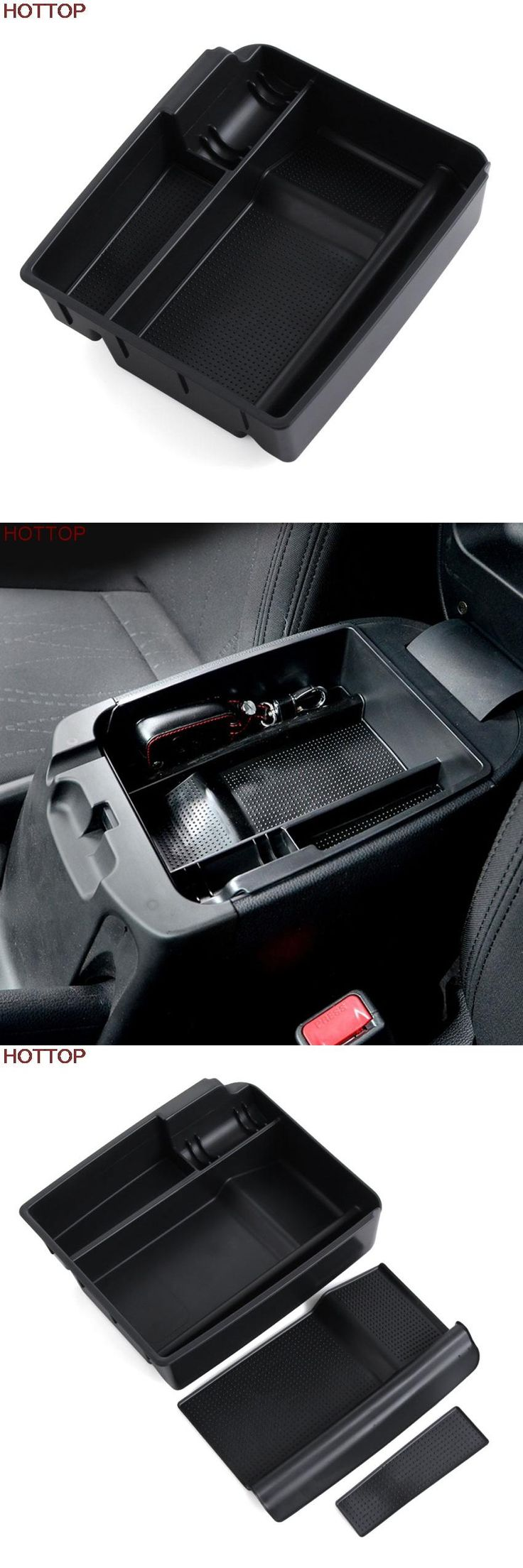 visit to buy abs central storage pallet armrest container decorative box case for kia