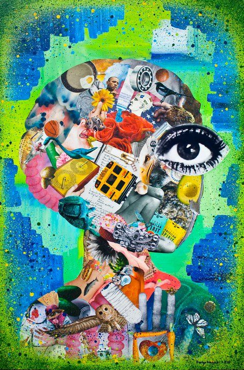 """Art idea: """"Inside My Head""""...more of what I used to ask children to do in the 1980s."""