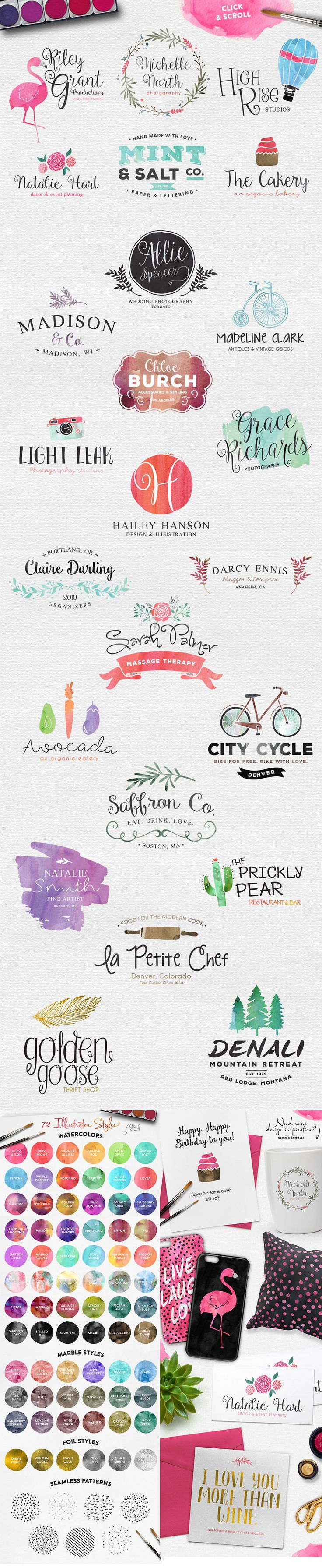 Make Media Co. Water Color The Inspirational Artistic Design Bundle