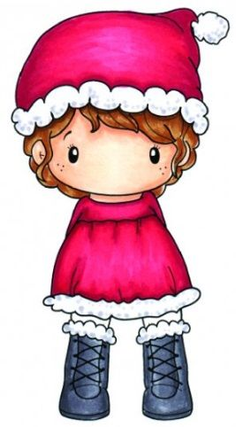 C.C. Designs - Cling Mounted Rubber Stamp - Swiss Pixie Santa Lula,$6.99