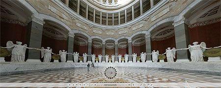 Innenraum der Befreiungshalle --> Link zum Start des virtuellen Rundgangs