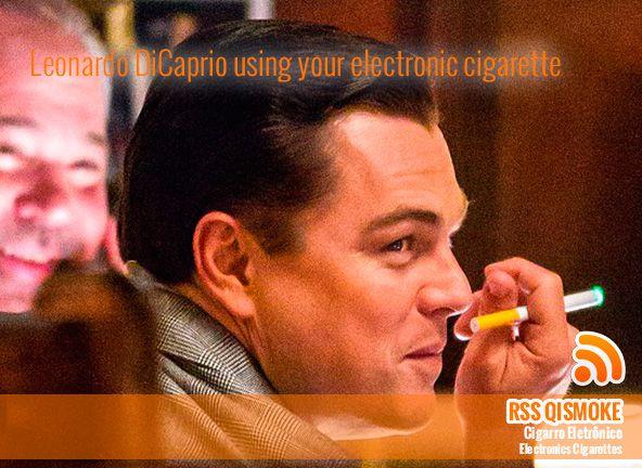 Estudo revela que cigarro eletrónico é menos prejudicial do que o cigarro convencional e Estudo revela que cigarro eletrónico é menos prejudicial do que o cigarro convencional e  Leonardo DiCaprio usando seu cigarro eletrônico