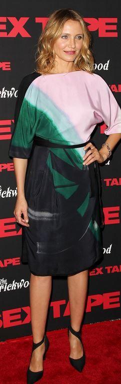 Cameron Diaz: Dress – Vionnet  Shoes – Balenciaga  Jewelry – Pomellato