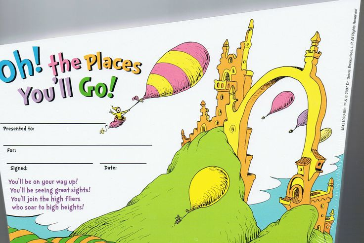 dr seuss oh the places you'll go | Oh! the places you'll go! - Dr ...