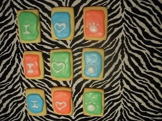 Iced zoo cookies