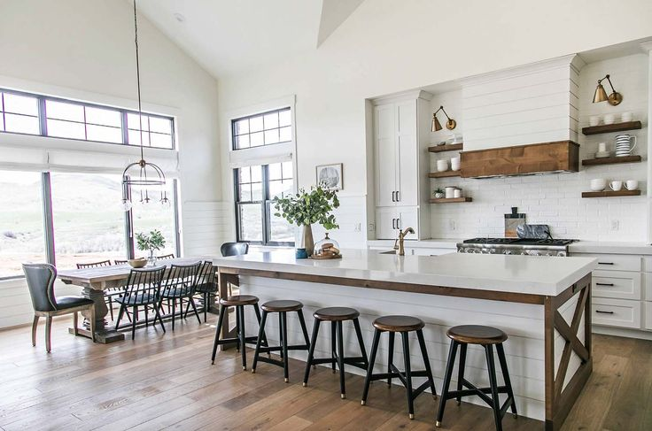 This modern farmhouse style home was designed for a family of six bySita Montgomery Interiors, located inMountain Green, Utah.