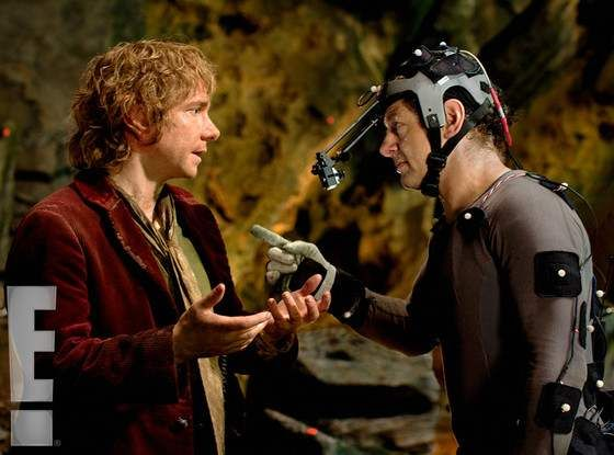 New Images of Andy Serkis in a motion capture suit as Gollum In THE HOBBIT. #TheHobbit #LOTR