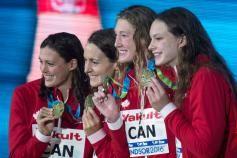 Les partisans d'Équipe Canada en ont eu pour leur argent à Windsor lors des Mondiaux de natation sur 25m où...