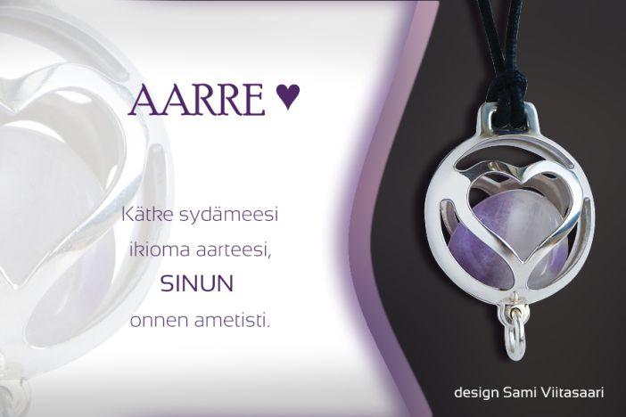 Silver jewelry, Aarre, amethyst pendant. Design Sami Viitasaari