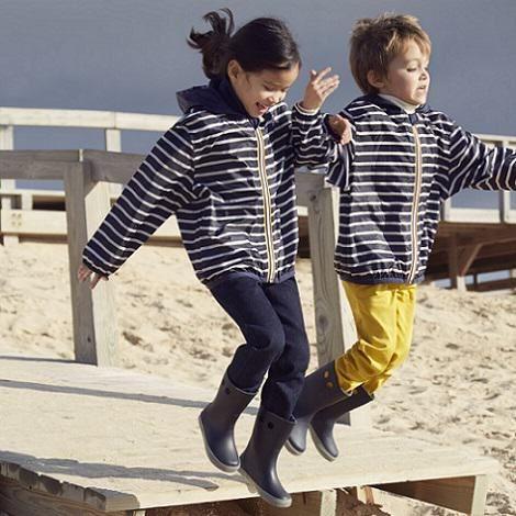 Coupe-vent enfant mixte - Petit Bateau x K-way