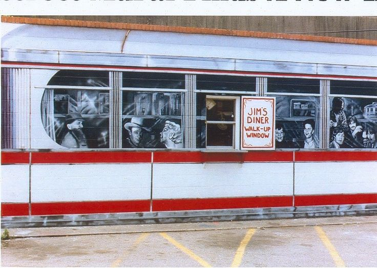 Mural at Jim's Diner by Sean Eichman  I think I can hear us rockin' the kitchen!