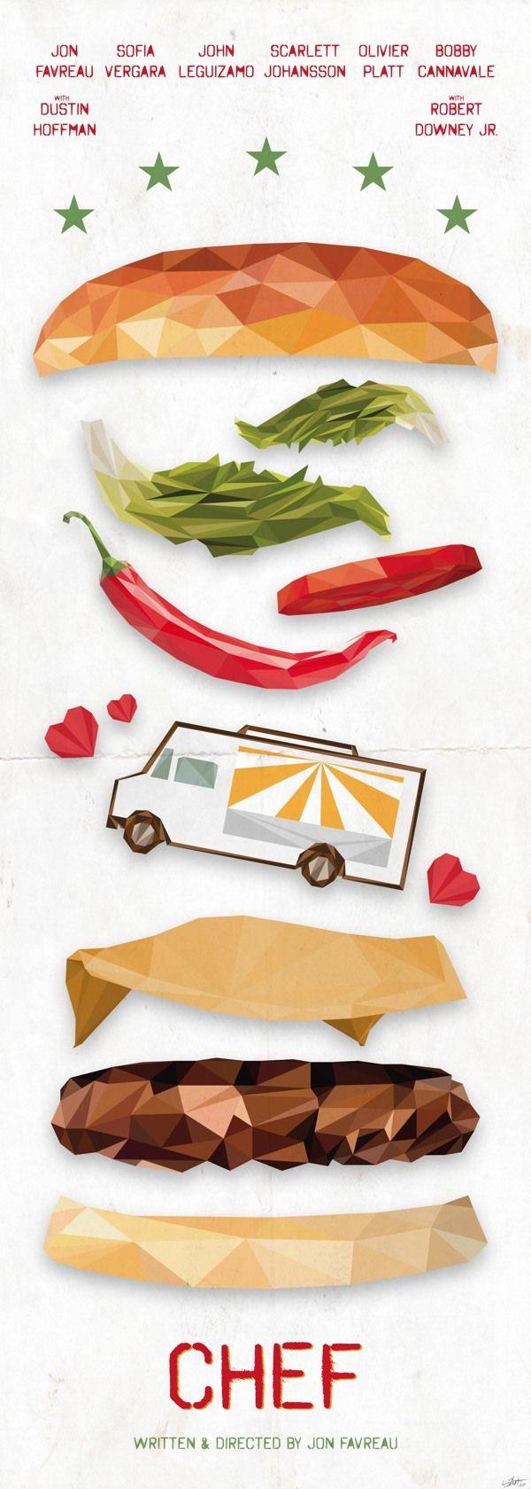 Chef (2014) ~ Minimal Movie Poster by Simon Delart