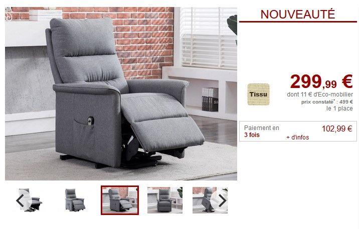 fauteuil relax electrique