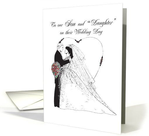 Wedding Wishes To Son And Daughter Card