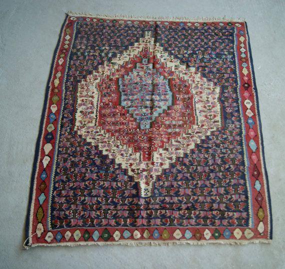 4'2''x4'9'' Turkish Kilim Rug