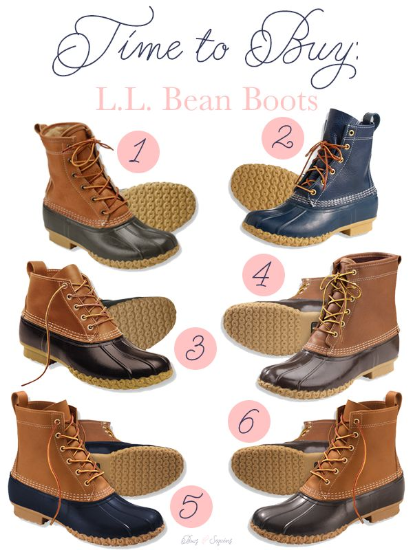 It's time to buy your Bean Boots!