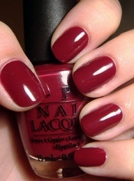 Dark red nails