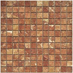 Rojo Alicante Marble Mosaic Polished