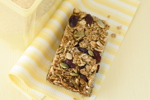Pack these crunchy bars in the kid's lunch-box for an extra energy boost during the day.