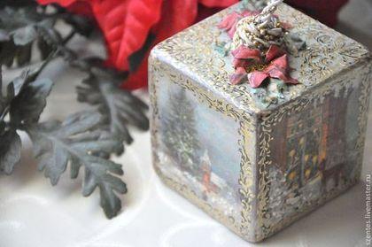 Елочные игрушки ,,Викторианское Рождество,, - елочные игрушки,кубики,винтаж