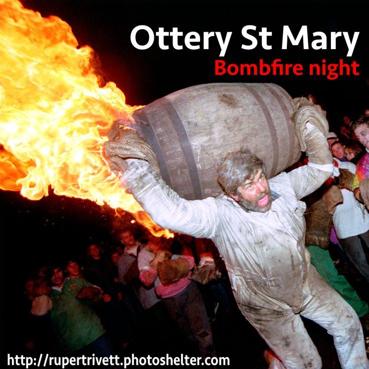 The Tar Barrel night of Ottery St Mary in Devon.