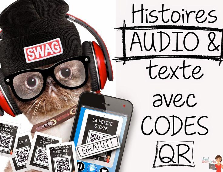 Prof Numéric: 12 signets iPad-Histoires AUDIO avec Codes QR