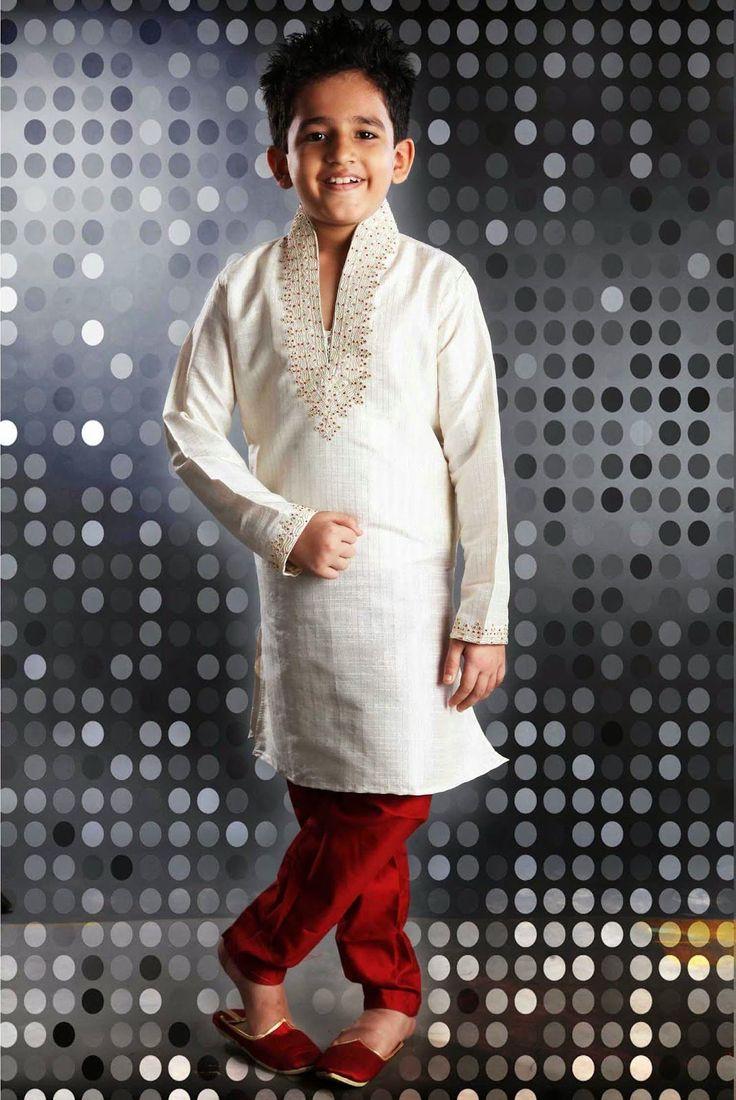 Ethnic Off White Kids Boys Wear - KBAJ071F019BC   Indian Trendz