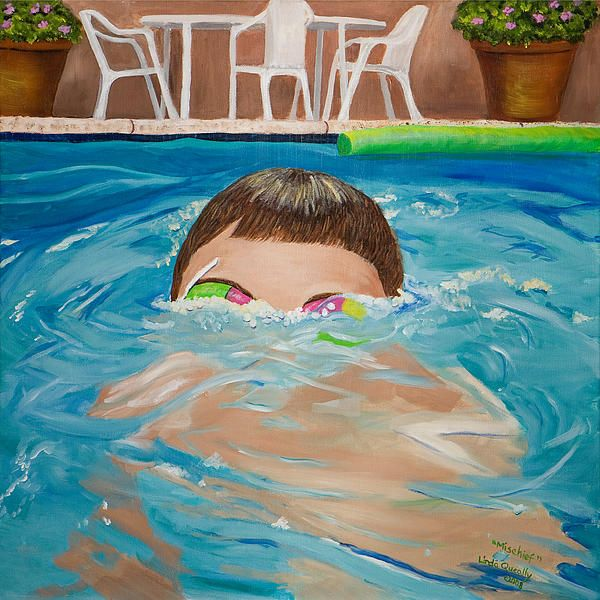 Painting Swimming Pools : Best my swimming pool paintings images on pinterest