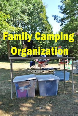 Family Camping-Packing Lists & Organization