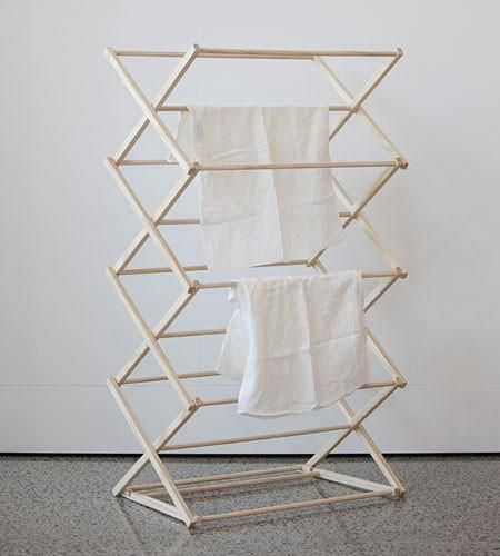 """referenceforww2: """"(via Wooden Folding Clothes Drying Rack – Father Rabbit Limited) """""""