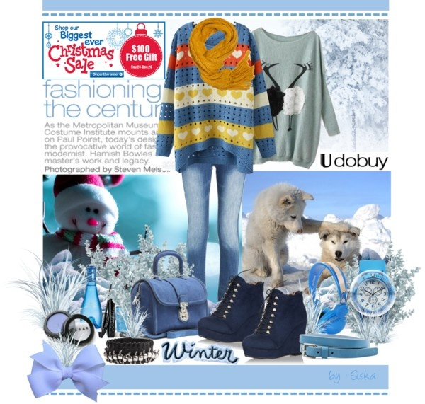 """fall in blue with Udobuy"" by siska-w ❤ liked on Polyvore"