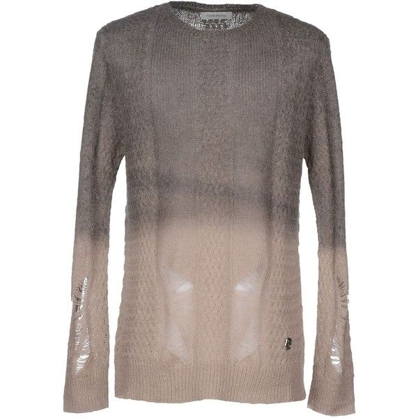 Pierre Balmain Sweater (370 BRL) ❤ liked on Polyvore featuring men's fashion, men's clothing, men's sweaters, dove grey and pierre balmain
