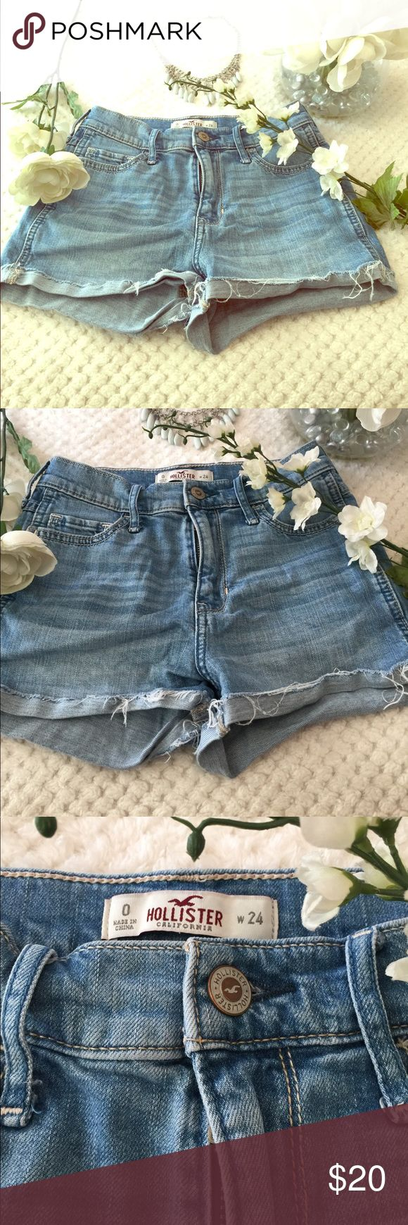 Hollister Jean shorts Light color Hollister Jean shorts really cute for summer time. W 24 Hollister Shorts Jean Shorts