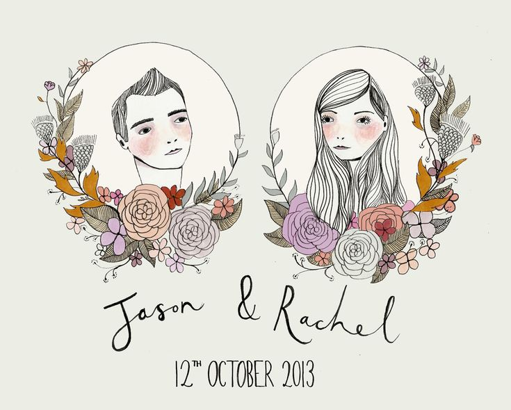 what kt does » BESPOKE STATIONERY These are too cute! Hand-drawn invites.