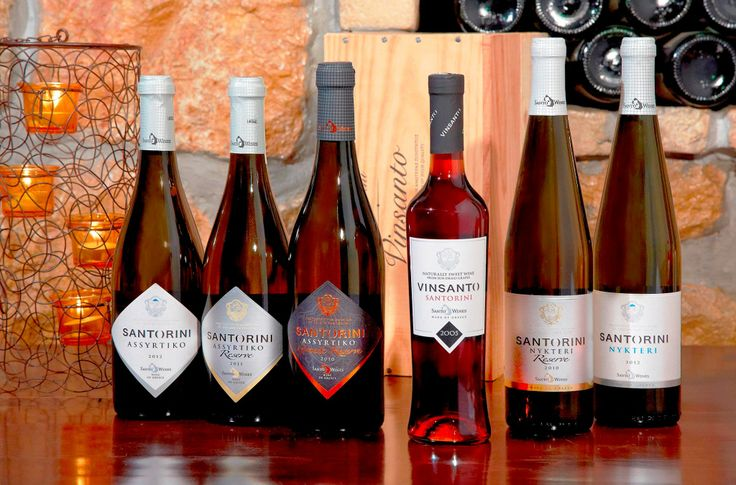 La gamme de santorini en Grèce fait par EZI. Our label for Santo Wine, Santorini, Greece.