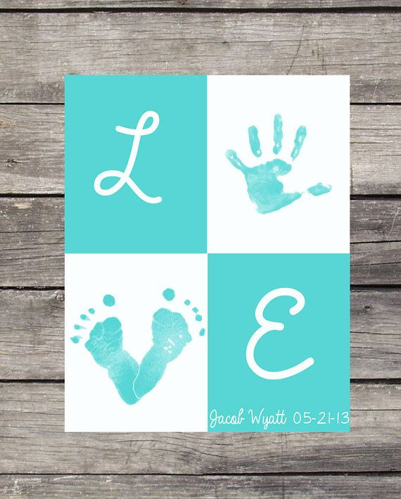 Personalized Handprint/ Footprint Poster L O by OurLittleMoments